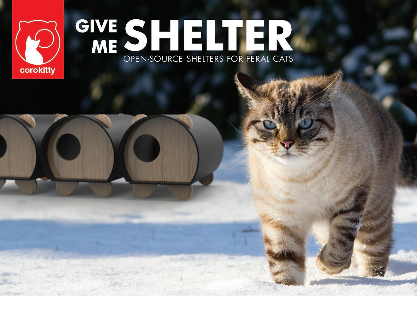 Corokitty is a DIY low cost feral cat shelter. Working