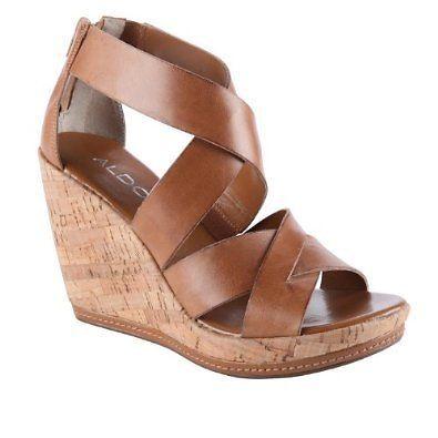 Aldo MORIKAWA sandal cork wedges, size