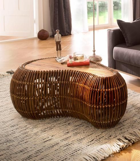 Sit Couchtisch Rattan Vintage 120 80 Cm In Nierenform In 2018