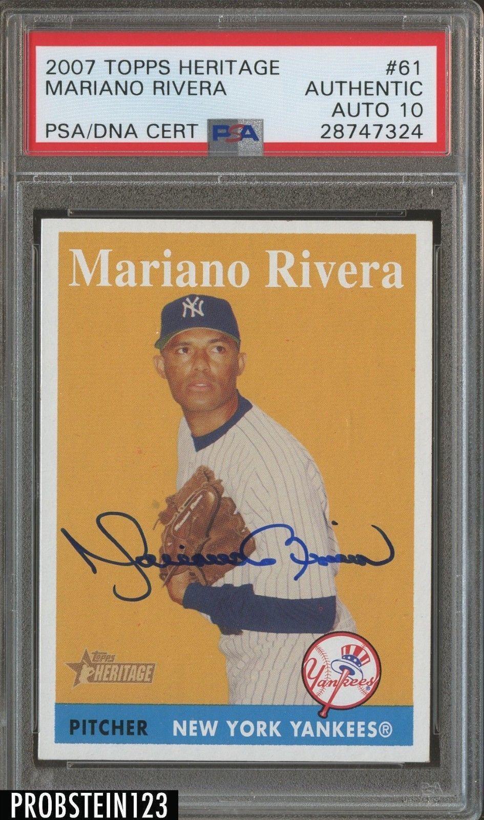 2007 Topps Heritage 61 Mariano Rivera Yankees Signed Auto
