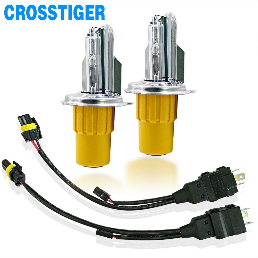 55w 6000k Hid Xenon Bulb Car H4 Headlight Bulbs Hi Lo Beam Bi Xenon H4 Auto Light Lamp Waterp