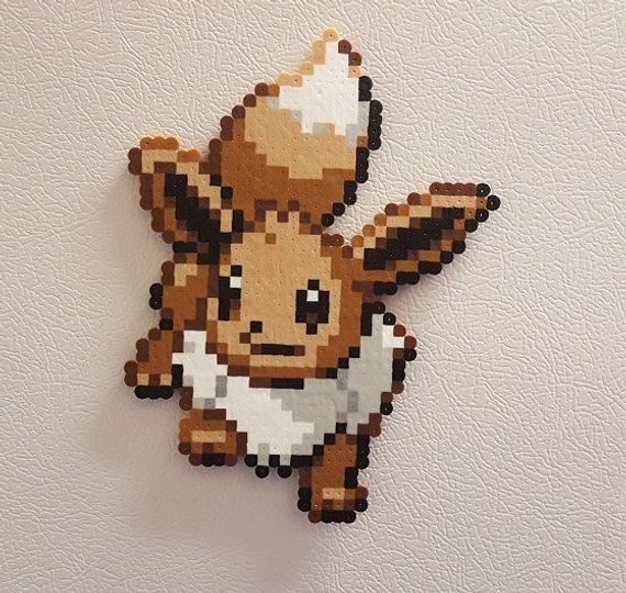 Pokemon Eevee Pixel Art Perler Beads 8 Bit Pokedex