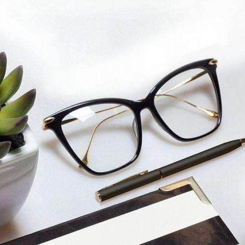 Photo of Cat Eye Brillen Rahmen für Frauen Sexy Übergroße Metallrahmen Optische Brillen Mode