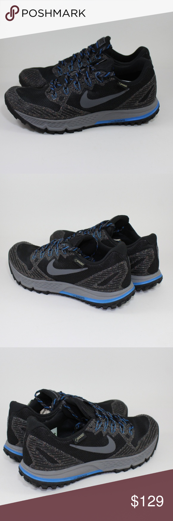 3d6186d319dad5 Nike Air Zoom Wildhorse 3 GTX Gore-Tex Hiking Shoe Nike Air Zoom Wildhorse 3  GTX Gore-Tex Running Hiking Shoe Nike   805569 001 Men s Size 8 Blk Gray  Brand ...