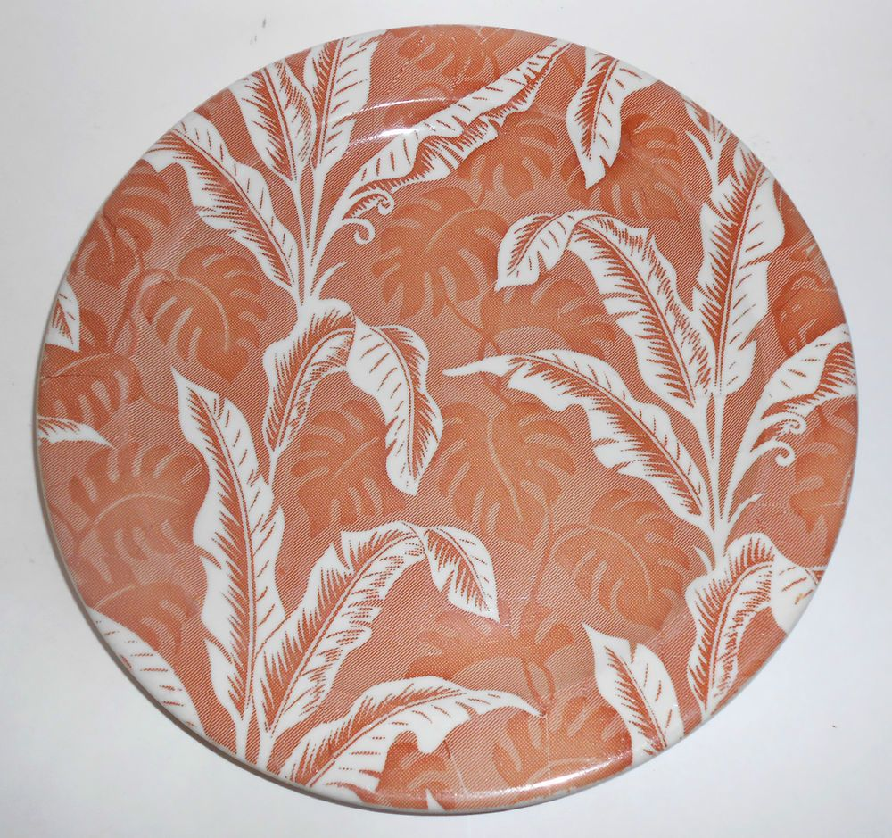 Shadowleaf pattern dinner plate in brown by Wallace China of Los Angeles 1950\u0027s-early  sc 1 st  Pinterest & Wallace China Brown Shadowleaf Banana Leaf Palm Large Dinner Plate
