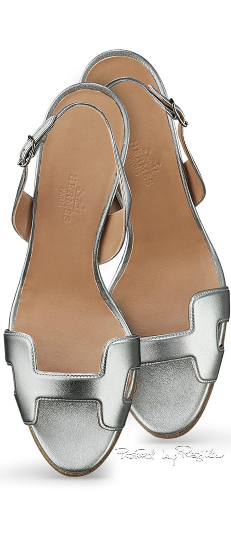 e13f074db59 Hermès Metallic Sandal