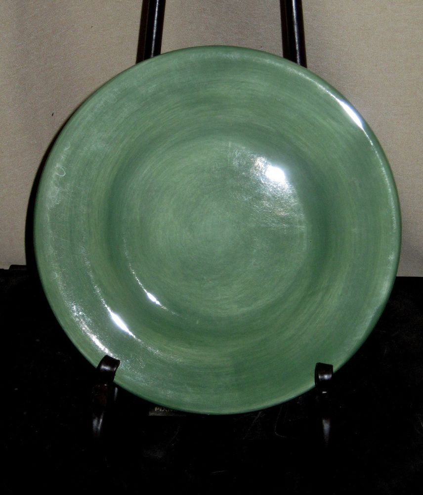 Tabletops Unlimited Salute Sage Green Salad Dessert Plates 8 1/2\  Mint Condition # & Tabletops Unlimited Salute Sage Green Salad Dessert Plates 8 1/2 ...