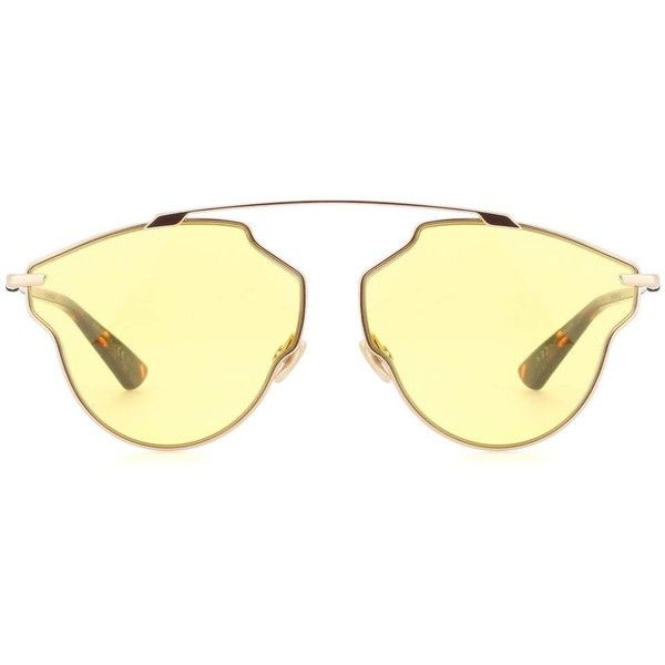 2e7ed52960b5 Dior Sunglasses Dior So Real Pop Sunglasses (5.523.300 IDR) ❤ liked on Polyvore  featuring accessories, eyewear, sunglasses, yellow, yellow sunglasses, ...