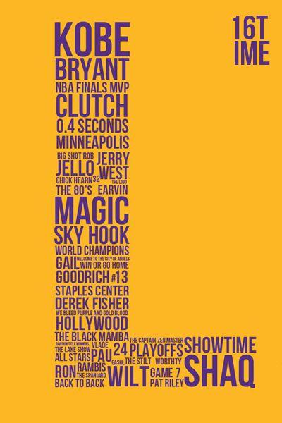La Laker Typography Nike Inspiration Lakers Kobe Bryant Nfl Quotes