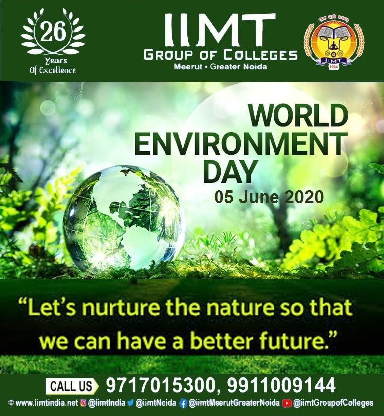 WORLD ENVIRONMENT DAY 05 June 2020 in 2020 World