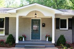 Small Front Porch Brick Ranch Google Search House With Porch