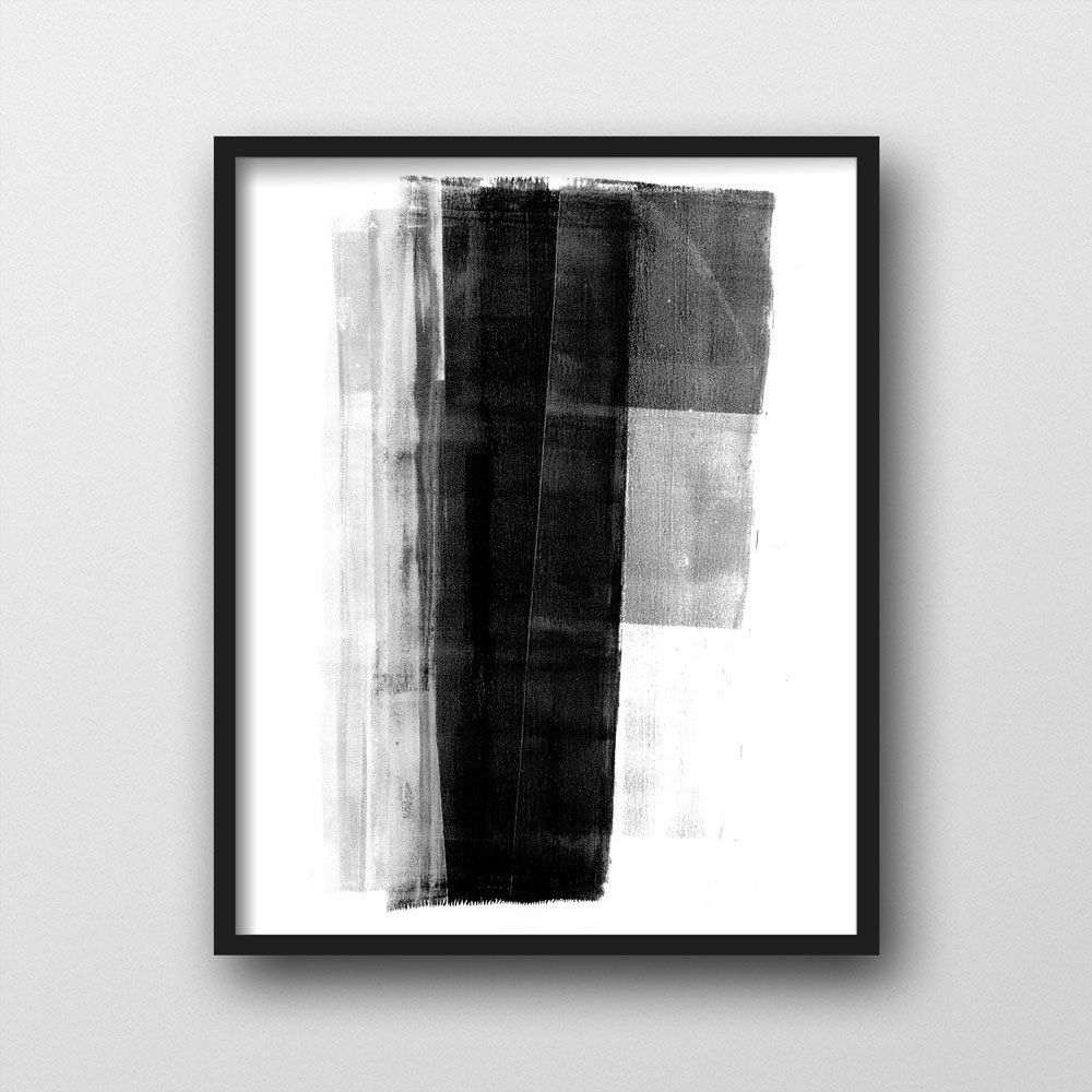 Black white geometric abstract painting minimalist art for Minimal art black and white