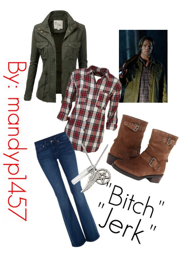 My daughter just made this on Polyvore, female version of Sam Winchester.