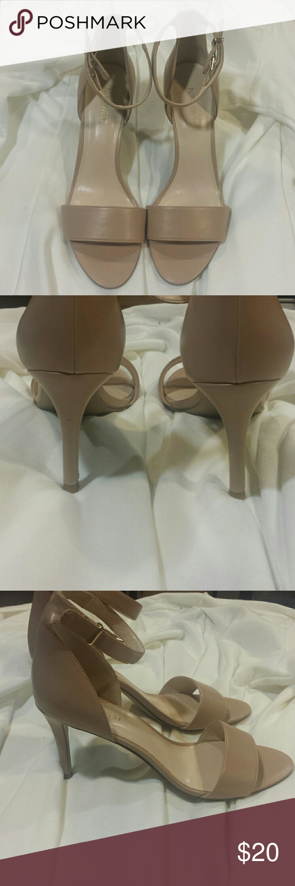 Nine West Heels Nine West Heels. Nude color. Never used. Lost the tag. Slight scuffs on one heel due to storage. Nine West Shoes Heels