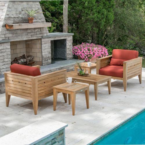 craftsman 5 pc teak lounge set