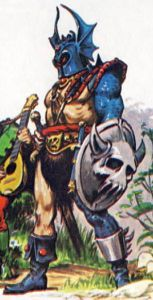 Warduke, as depicted in The Forest of Enchantment (1983). Art by Earl Norem.