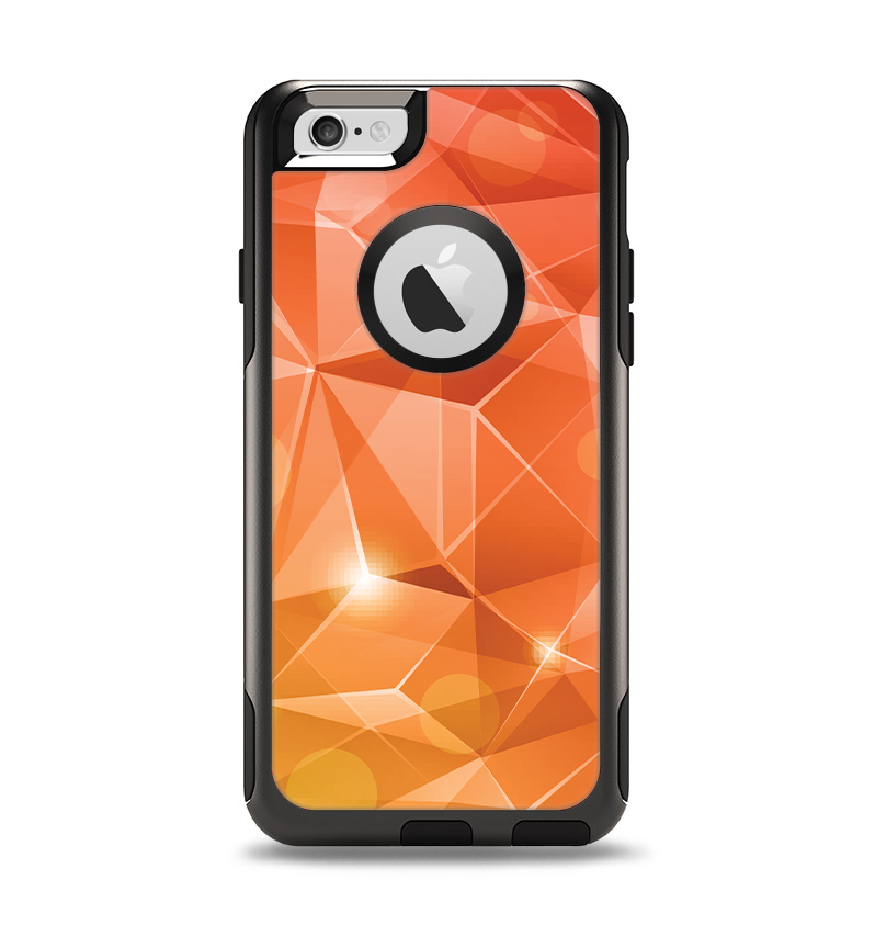 The Vector Shiny Coral Crystal Pattern Apple iPhone 6 Otterbox Commuter Case Skin Set