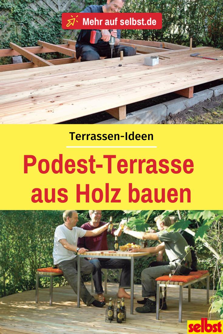 Erhöhte Holzterrasse selbst bauen