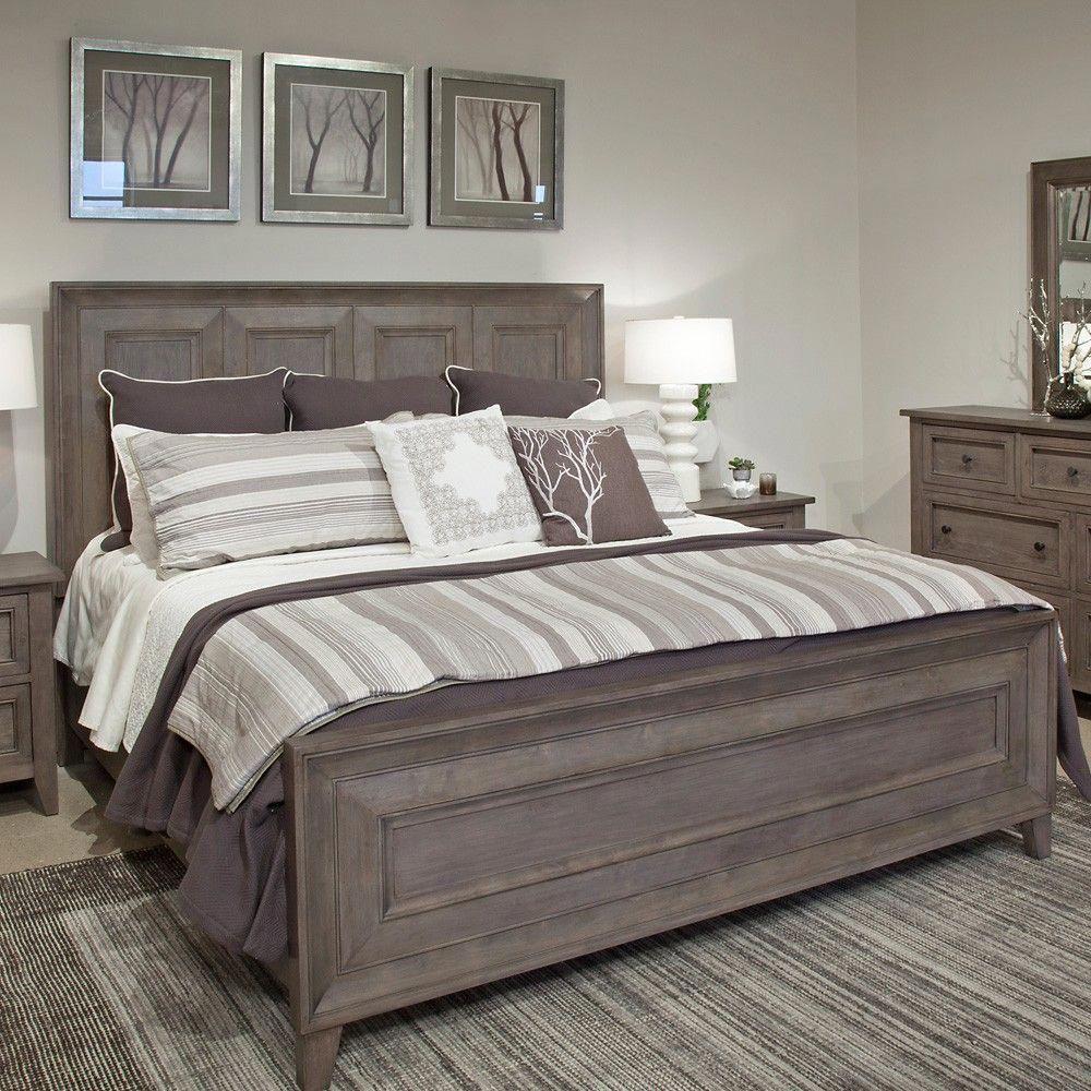 Talbot Wood Panel Bed In Driftwood Bedroomdecordiy Bedroom