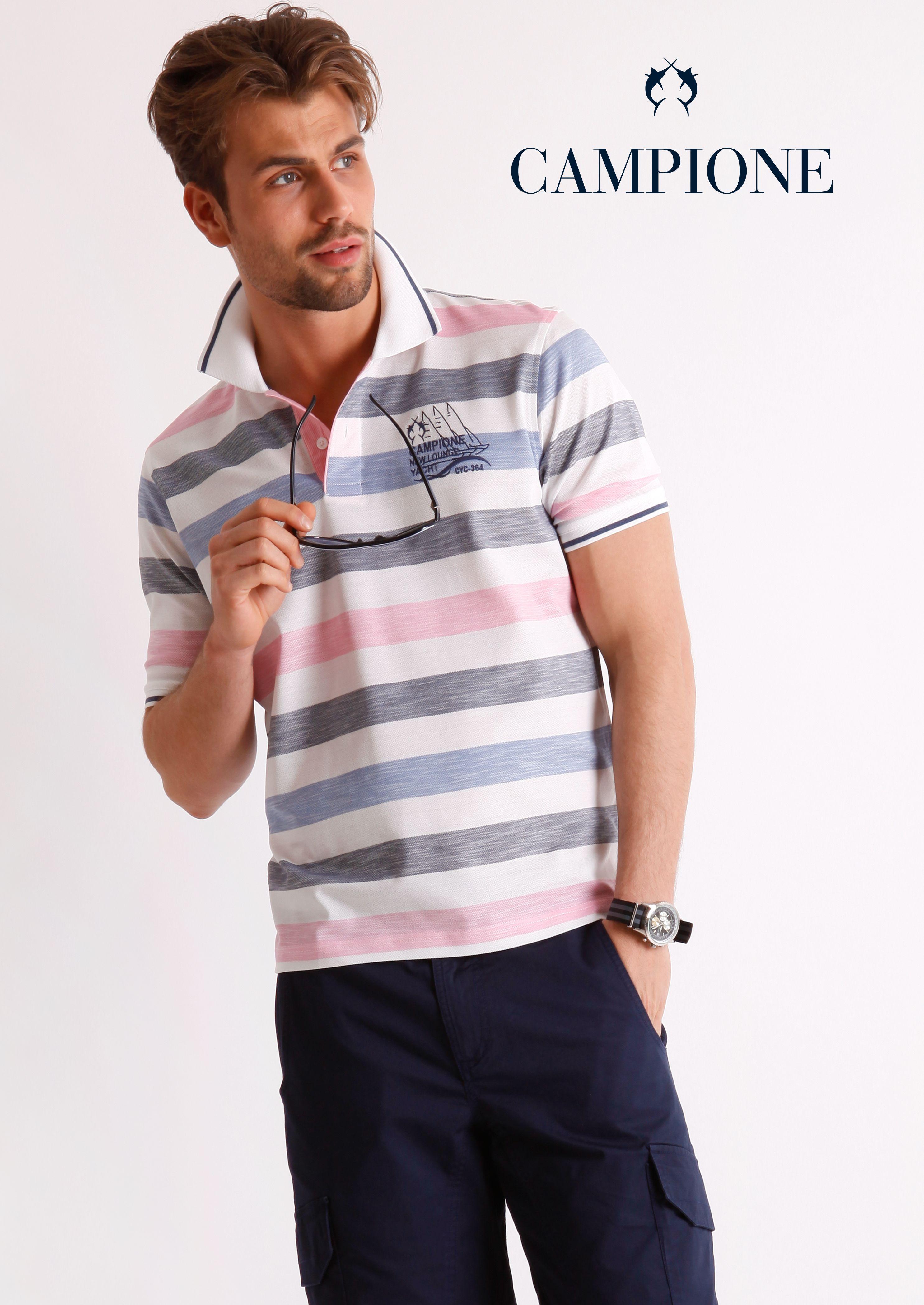 #Poloshirt im lässigen Streifendesign für trendige Styles mit Jeans und Chino.