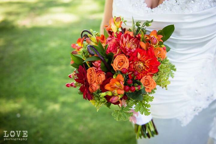 Fall bridal bouqet