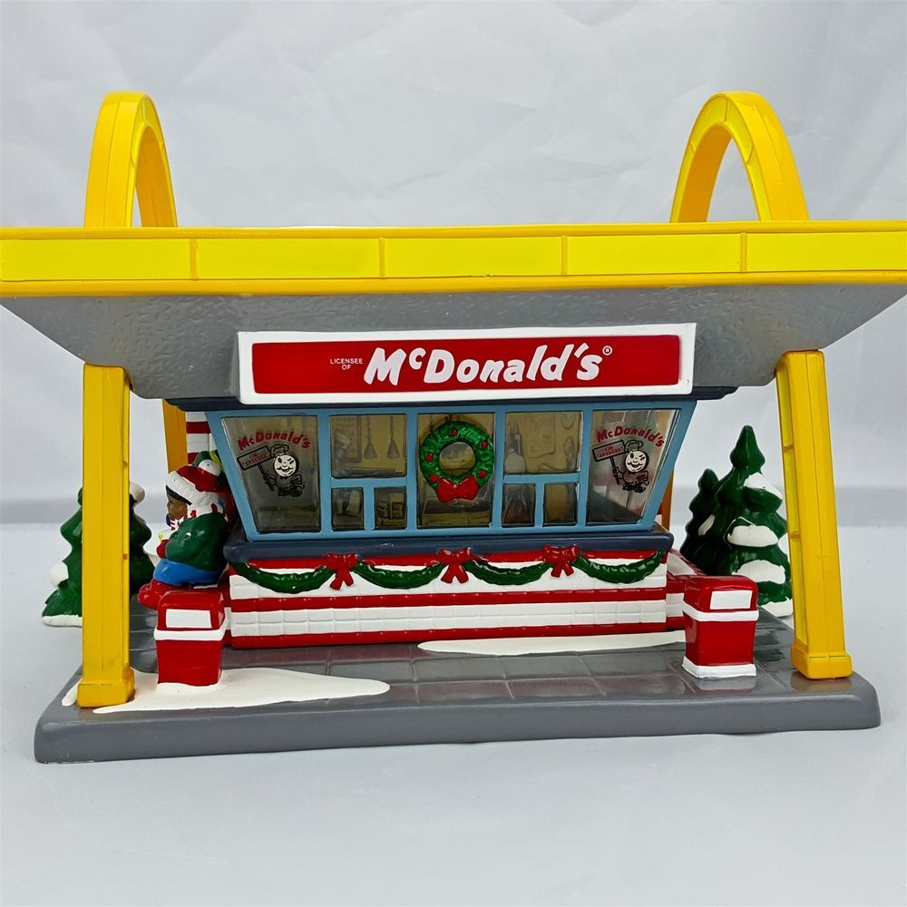 Dept 56 Snow Village McDonald's Restaurant Fast Food Drive In Arches #54914