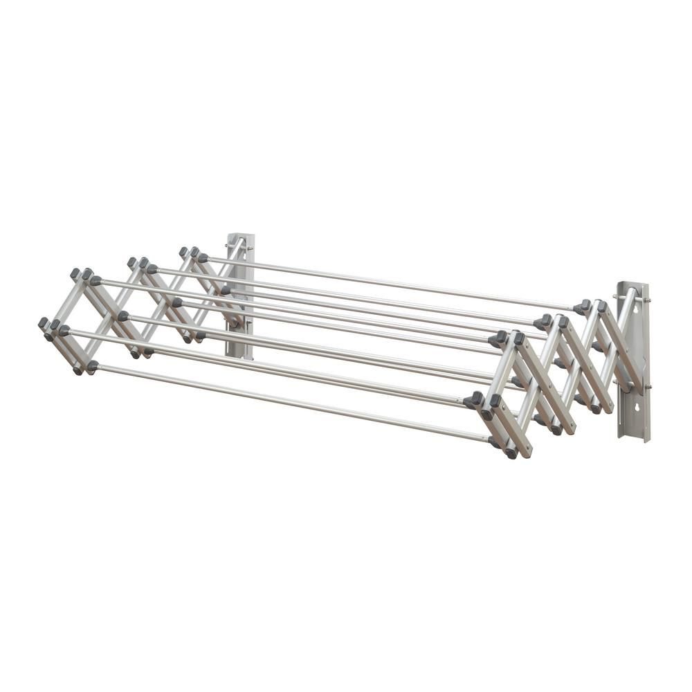 Woolite Aluminum Collapsible Wall Drying Rack W 84152 Wall