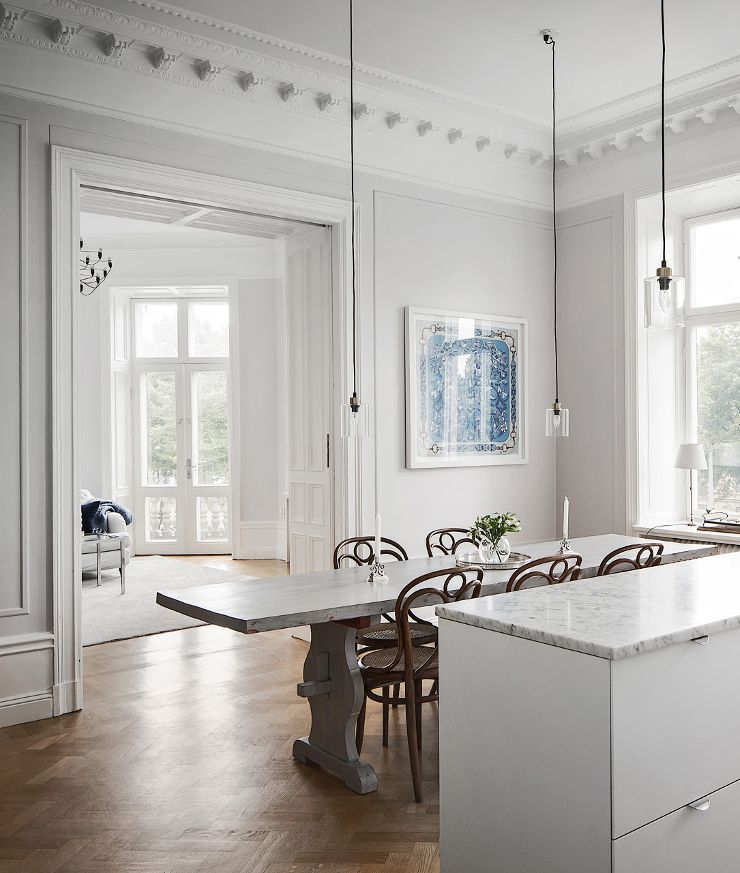 stockholm apartment in greys and white | alexander white 3