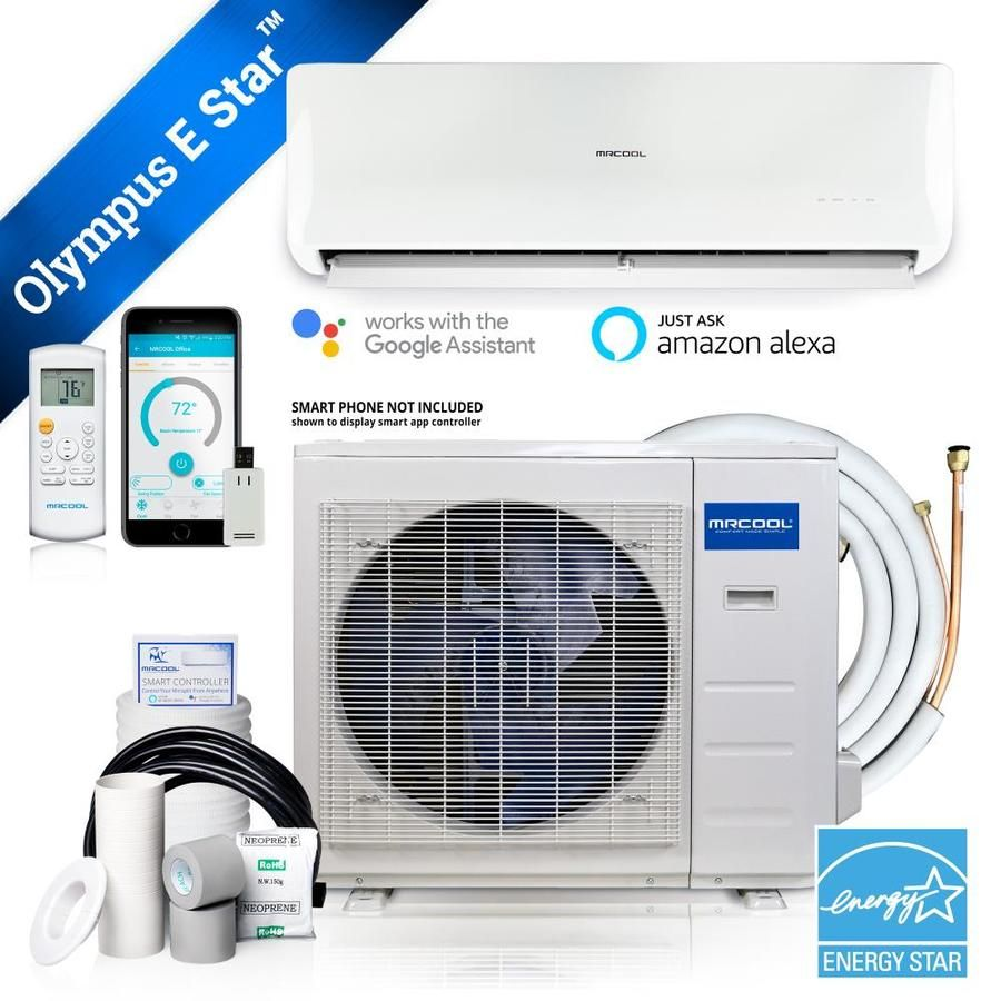 Mrcool Olympus Energy Star 9000 Btu 250 Sq Ft Single Ductless Mini Split Air Conditioner With Heater Energy Star O Es 09 In 2020 Air Conditioner With Heater Heat Pump System Ductless Heat Pump