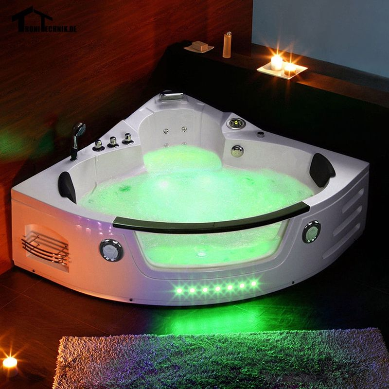 1350mm Whirlpool Hot Tub Shower Spa Massage 2 person Bathtub Wall ...