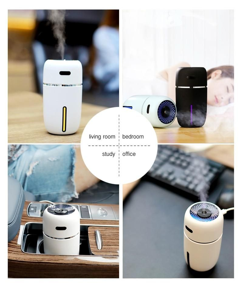 White Dolphin Mini USB Air Humidifier Aroma Diffuser With
