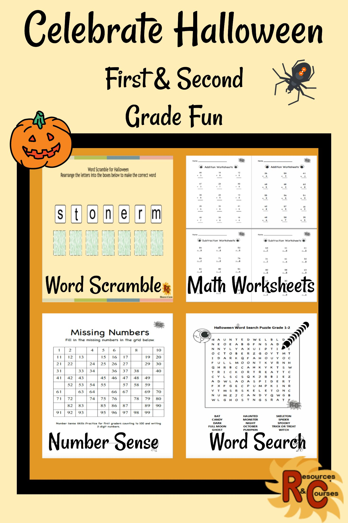 Halloween Activities For First Amp Second Graders