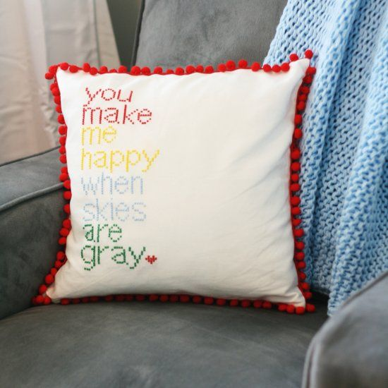 custom pillow stitching