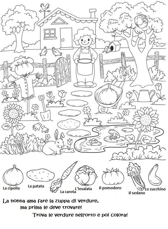 Spunto per imparare le verdure giocando. | Lezioni | Pinterest ...