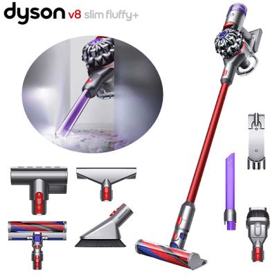 国内正規品 2年保証 ダイソン Dyson V8 Slim Fluffy サイクロン式 コードレスクリーナー スティッククリーナー 掃除機 Sv10k Slm Com 軽量モデル Led隙間ノズル スリムソフトローラークリーナーヘッド ミニモーターヘッド フトンツール Sv10ksl ダイソン 掃除機