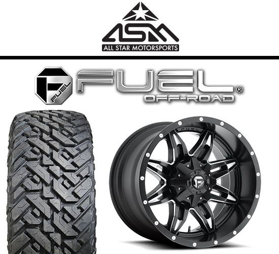 Fuel Offroad Package D567 Lethal 22x11 Black Milled 35x12 50r22