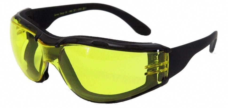 9cd4b05db7 Yellow lens motorcycle glasses for night riding and low light situations  improve night vision. Optional