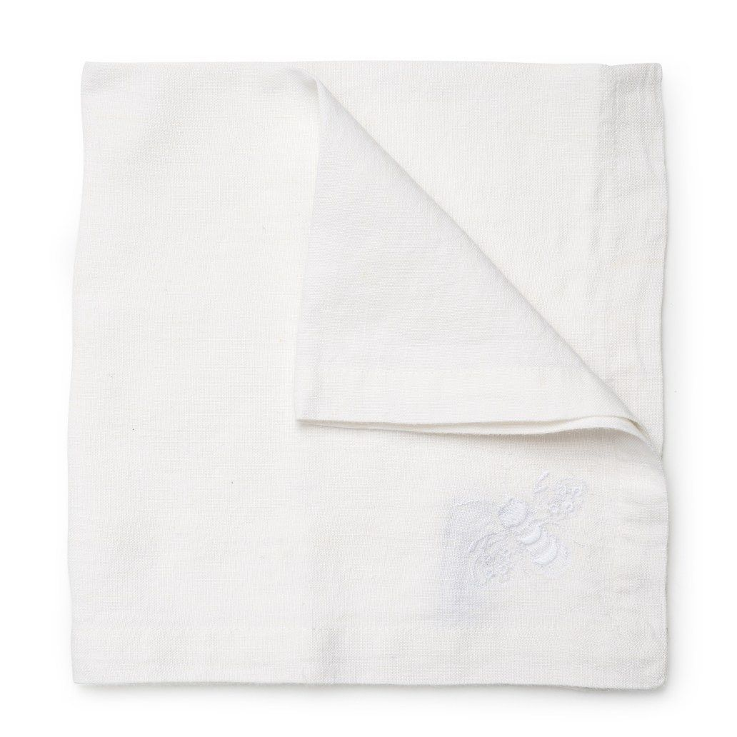 Bee Linen Napkin Daylesford In 2020 Linen Napkins Linen Hand Embroidered