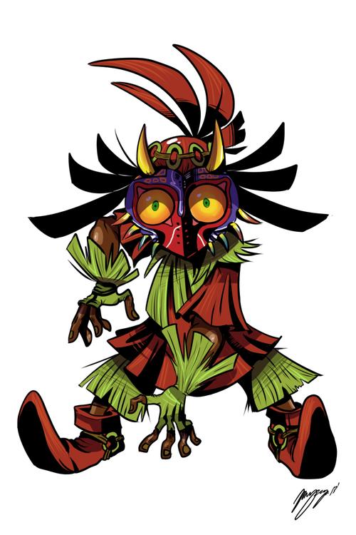 Thecyberwolf The Skull Kid By Damaximos Zelda Art Legend Of Zelda Legend Of Zelda Breath