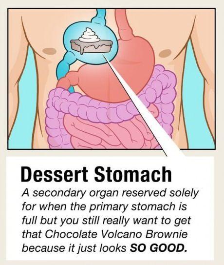 True. Especially when the dessert is free.