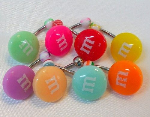 Candy Belly Ring M And M Candy M M Girl Belly Button Piercing