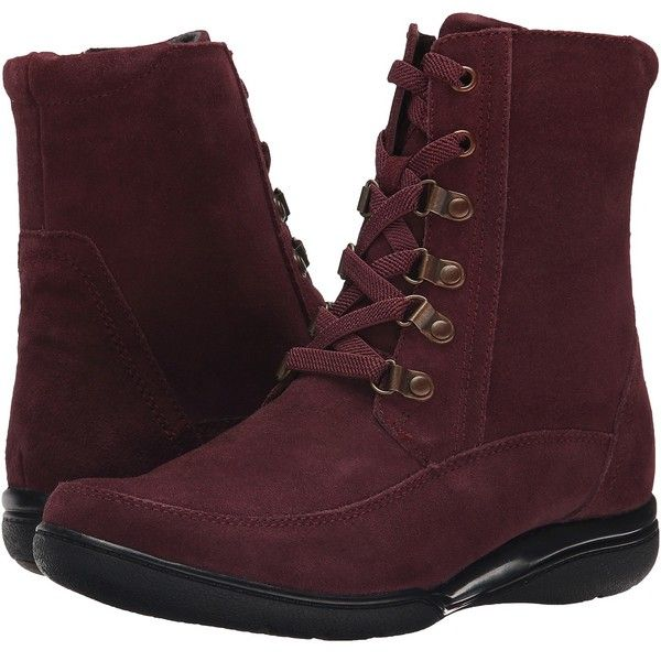 Womens Boots Clarks Kearns Sirena Burgundy