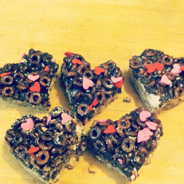 Chocolate Cheerios marshmallow treats from pillsbury.com