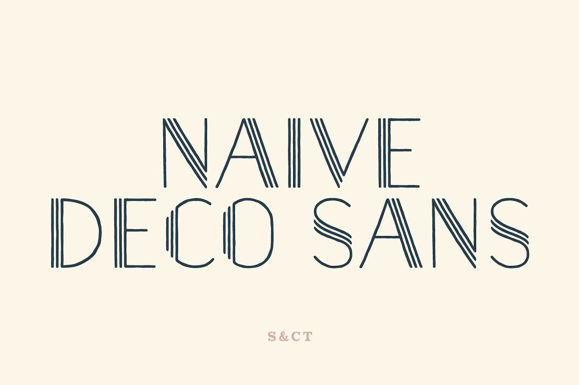 Download Naive Deco Sans Font Pack - Sans Serif on @CreativeMarket ...