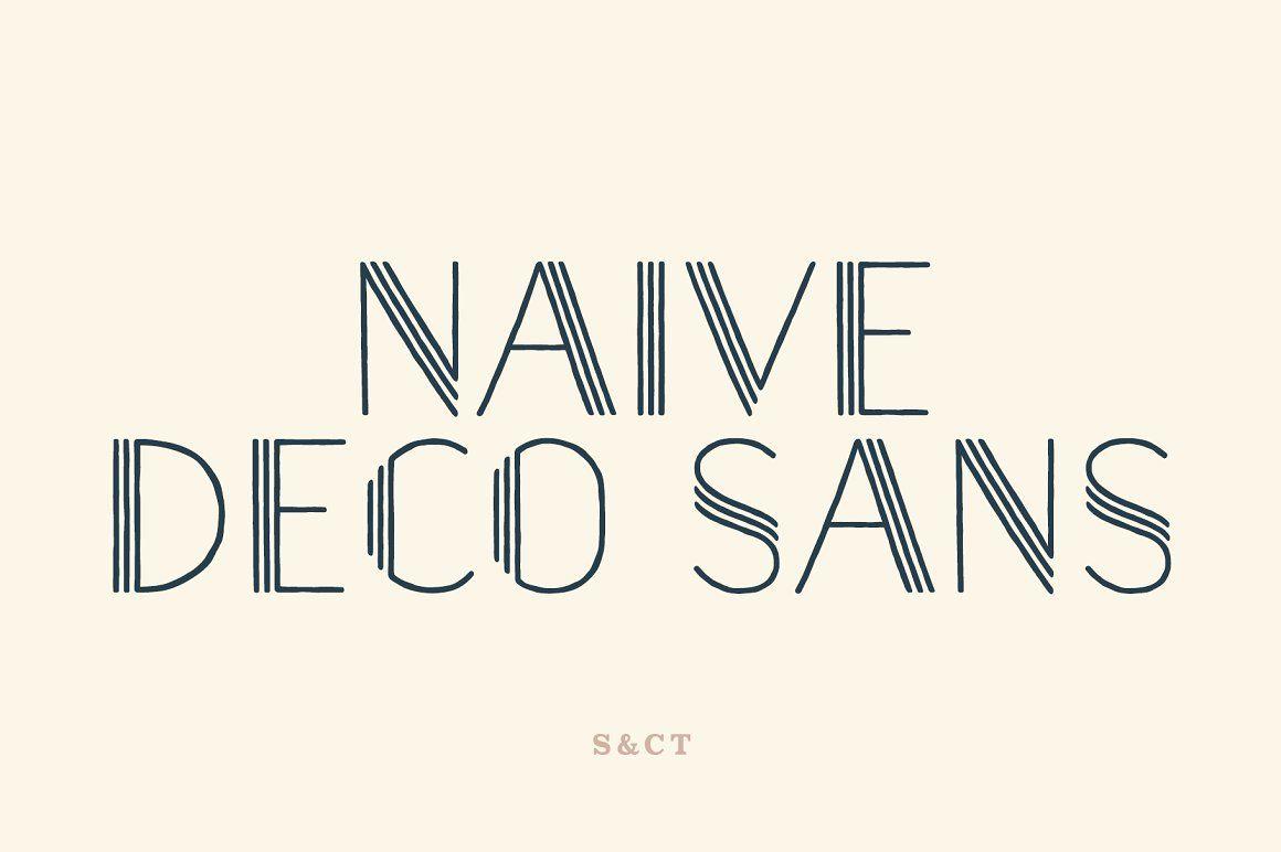 Download Naive Deco Sans Font Pack - Sans Serif on @CreativeMarket ...