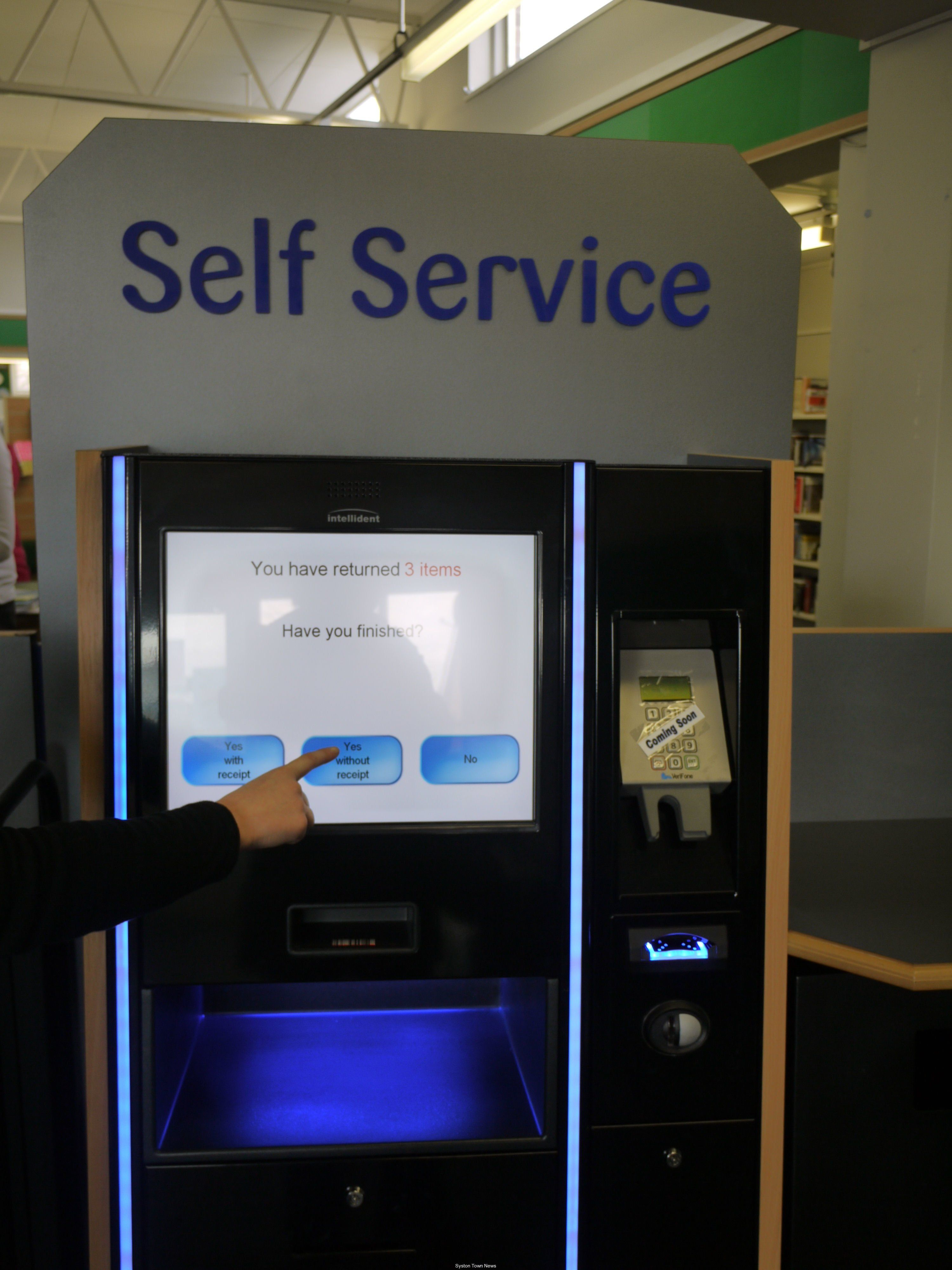 Selfservice kiosk Library Enable people to borrow
