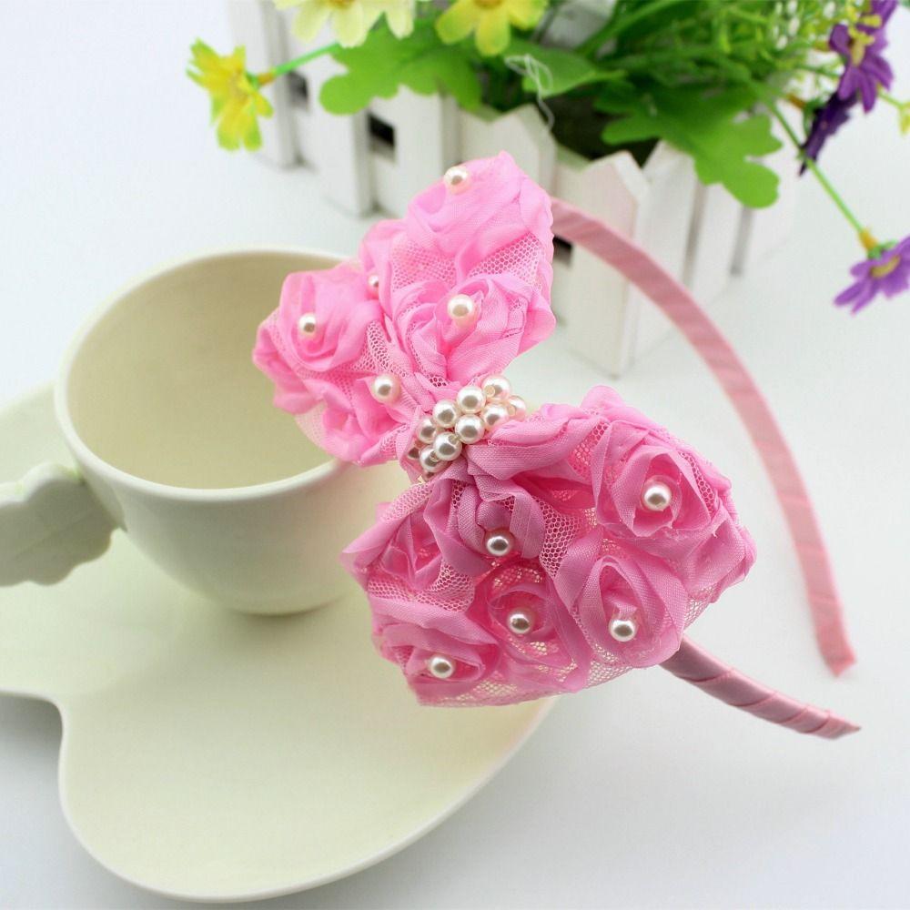 Flower Elastic Baby Girls Headbands Fashion Headwear For 6 Months To