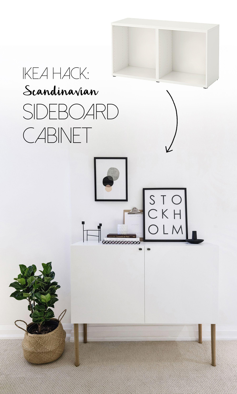 Ikea Besta Hack Scandinavian Sideboard Cabinet Tutorial By Happy