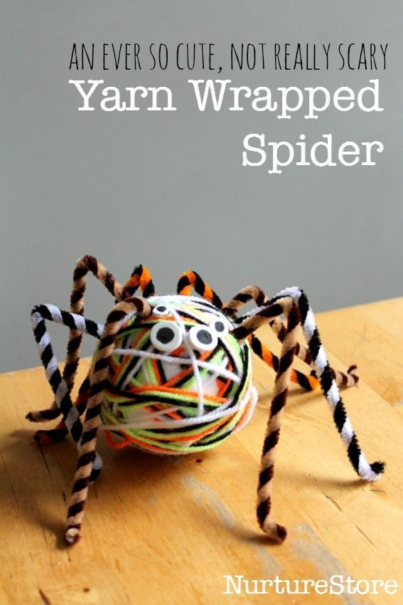 Yarn wrapped spider craft for Halloween Spider, Craft and - halloween activities ideas