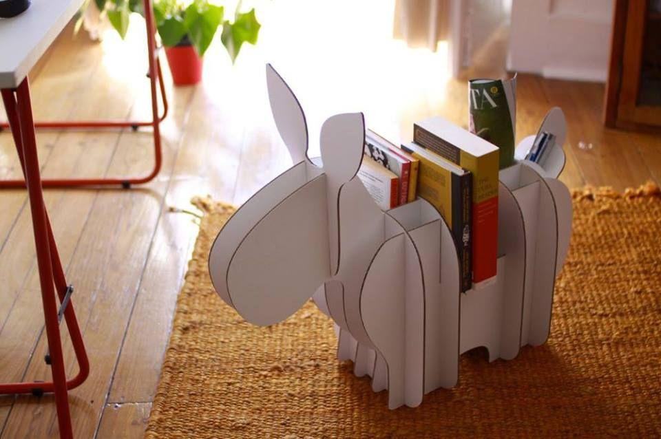 Olha só que fofo este porta-livros e revistas! Inspire-se! #home